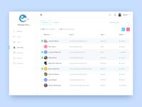 Accounts screen [white sidebar]