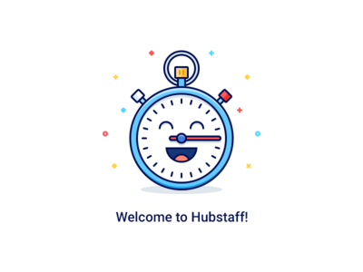 Welcome! time management get started time tracking icon watch clock welcome stopwatch time outline flat illustration