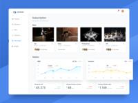 Subscriptions subscription plans dashboard statistics charts sidebar app activity widget analytics