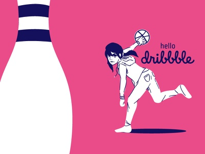 Scoring All The Touchdowns female woman funny bowling debut illustration