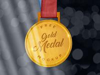 Free Sports Gold Medal Mockup PSD freebie free mockup psd mockup psd free medal mockup medal mockup gold medal mockup