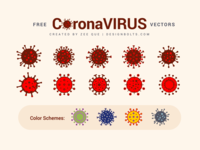 Free Coronavirus Vector Ai, EPS + Color Schemes free vector corona free virus virus ai virus vector coronavirus vector corona virus coronavirus