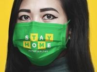 Free Medical Face Mask Mockup PSD