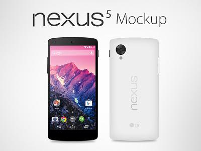 Vector Google Nexus 5 Mockup (Ai, EPS) nexus 5 nexus mockup nexus nexus 5 vector