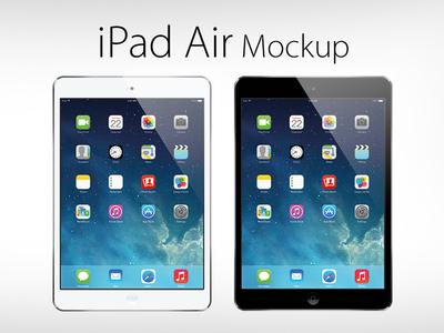 Free Vector iPad Air Mockup