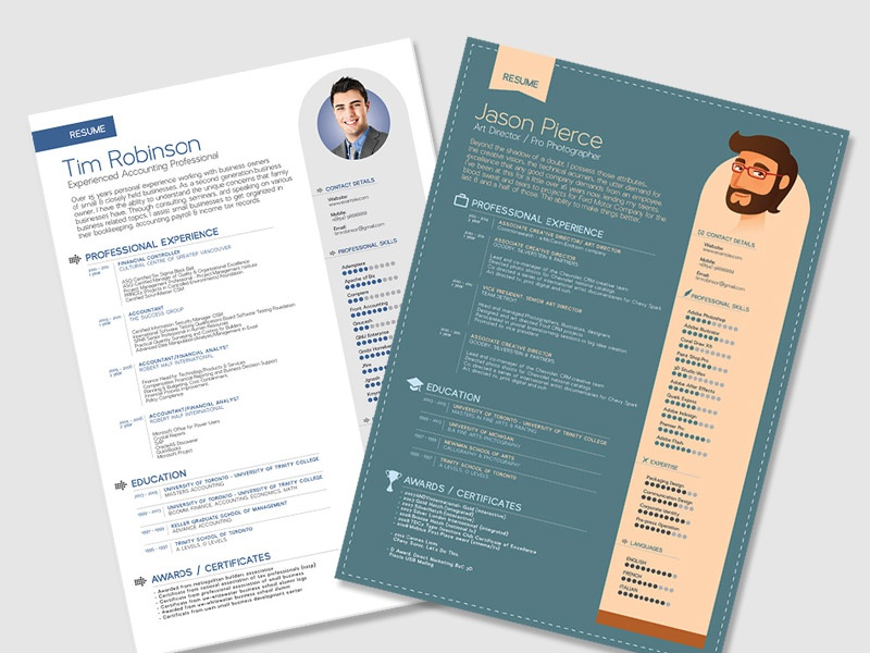 free simple resume templates in vector format by zee que