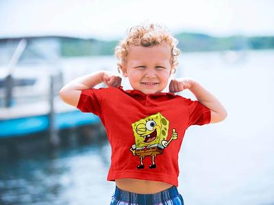 Free Short Sleeves Kids T-Shirt Mockup PSD psd free psd free download mock-up freebie psd mockup mockup tshirt mockup tshirt free mockup mockup psd