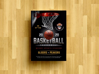 Free Basketball Tournament Playoff Flyer Design Template PSD flyer artwork flier playoff flyer template freebie flyer free flyer design flyer template flyer design