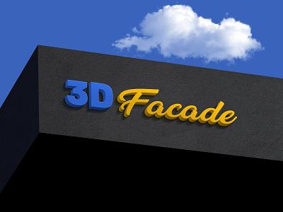 Free Shop Facade 3D Logo Mockup PSD 3d free mockup facade mockup facade logo mockup mockup psd mockup logo 3d logo logo mockup