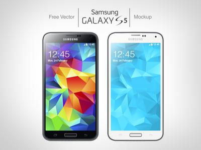 Free Vector (.ai) Samsung Galaxy S5 Mockup