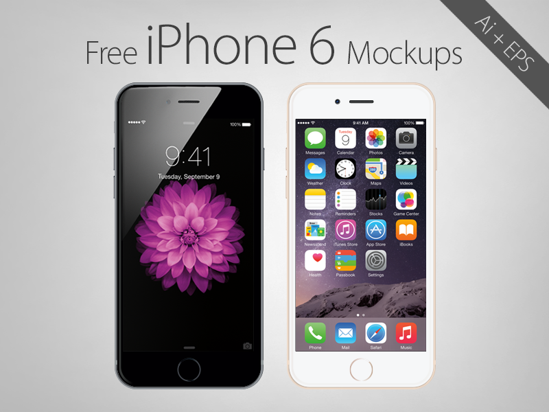Free vector apple iphone 6 in  ai   .eps  format 2