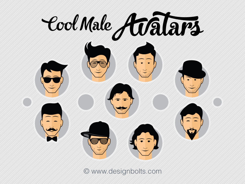 free cool male avatars icons in png vector format by zee que