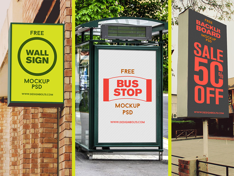 Free High Quality Outdoor Advertising Mockup PSD Files outdoor advertising mockup free psd psd mockup psd outdoor mockup