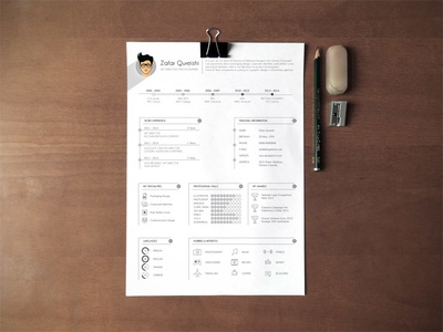 Free professional resume cv template for graphic designers by zee free professional resume cv template for graphic designers yelopaper Image collections