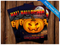 Free PSD Halloween Party Poster 2015