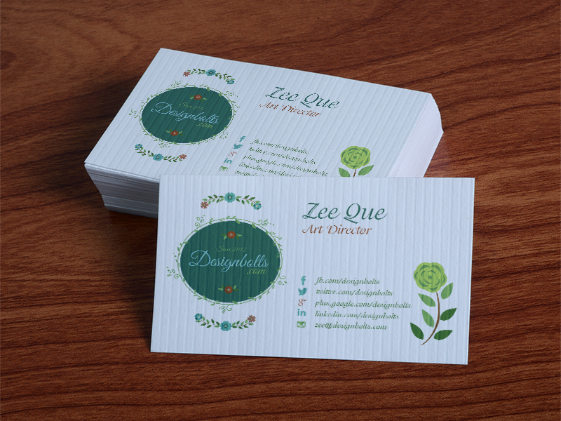 Free Textured Business Card Design Template & mockup psd by Zee ...