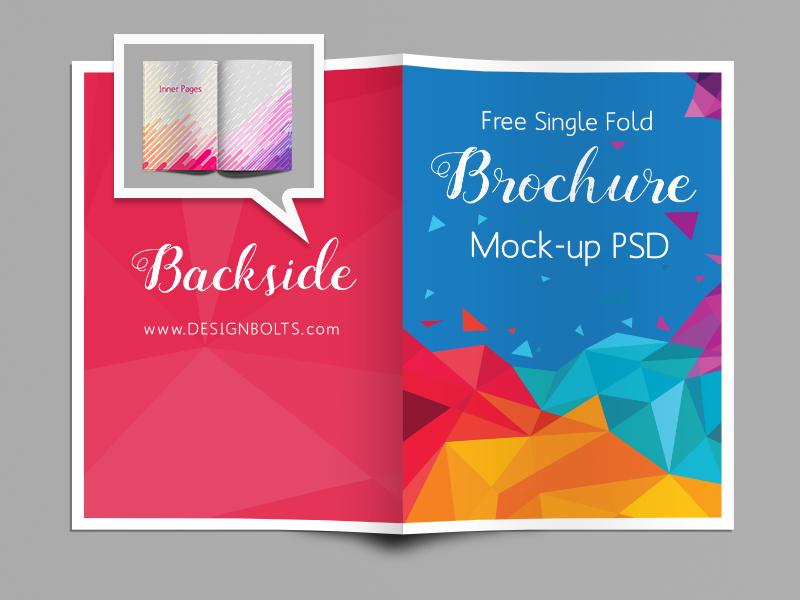 free single fold a4 brochure mockup psd by zee que designbolts