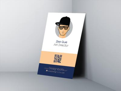 Free vertical business card design mockup psd by zee que free vertical business card design mockup psd colourmoves