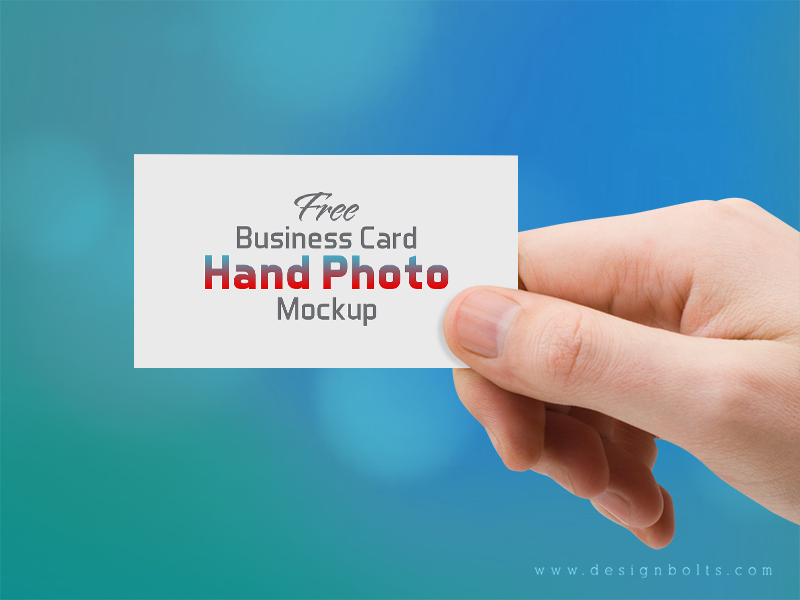 Free Business Card Hand Photo Mockup PSD by Zee Que | Designbolts ...