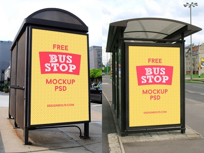 Free HQ Outdoor Advertising Bus Shelter Mock Up PSD mock-up outdoor advertising mockup outdoor mockup psd mockup free psd psd mockup psd bus-stop mockup bus shelter mockup