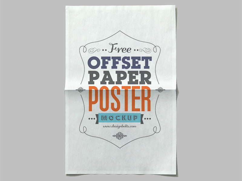 Free Offset Paper Poster Mockup PSD free download free psd download poster mockup psd free psd mockup psd mockup free mockup mockup psd poster mockup