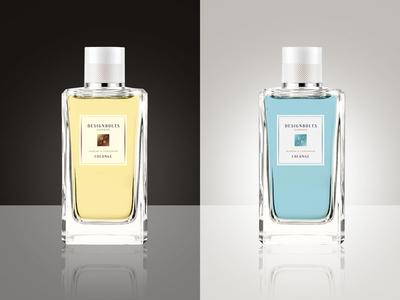 Free Cologne / Perfume Bottle Mock Up PSD