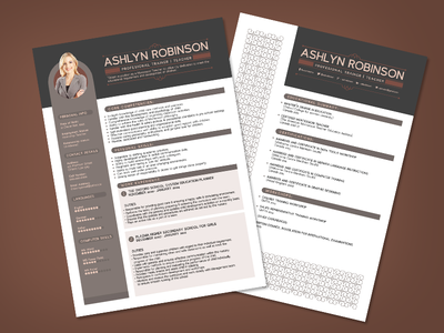 Resume Format Designs Themes