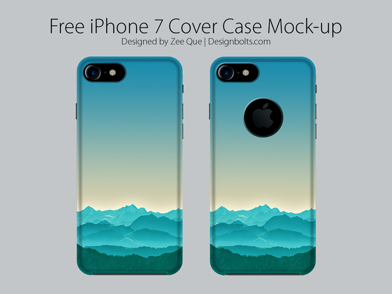 Free Apple Iphone 7 Cover Case Mock Up Psd By Zee Que Designbolts