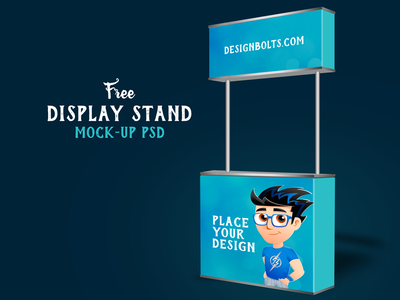 stand display mockup psd