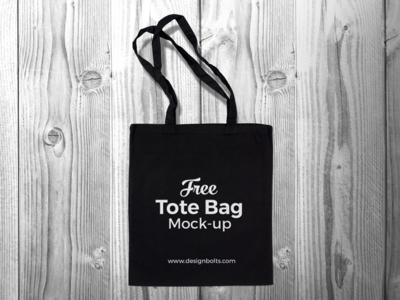 Free Black Cotton Tote Ping Bag Mock Up Psd