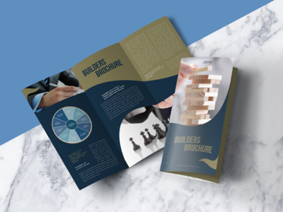 free tri fold brochure mock up psd file
