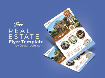 Free Real Estate Flyer Design Template & Mock-up PSD flyer free real estate mockup psd a4 mockup flyer template free flyer template free flyer design free flyer a4 flyer flyer design