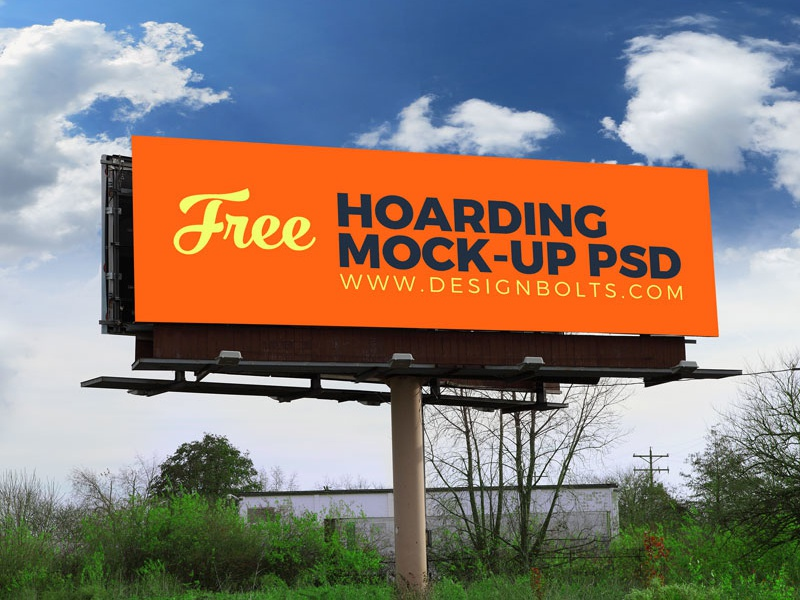 2 Free High Quality Outdoor Advertising Billboard PSD Mockups