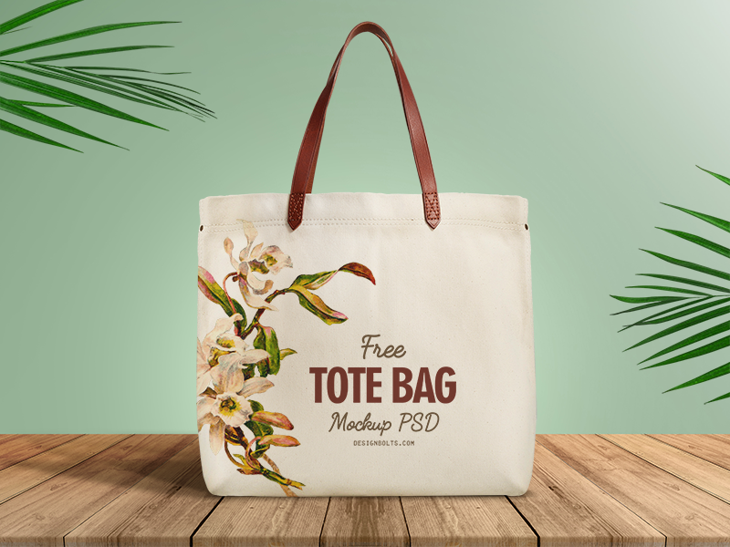 Free Organic Cotton Tote Ping Bag Mockup Psd Packaging