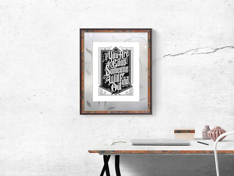 Download Free Wall Photo Frame Mockup Psd