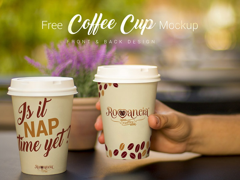 Free Coffee Cup Photo Mockup PSD