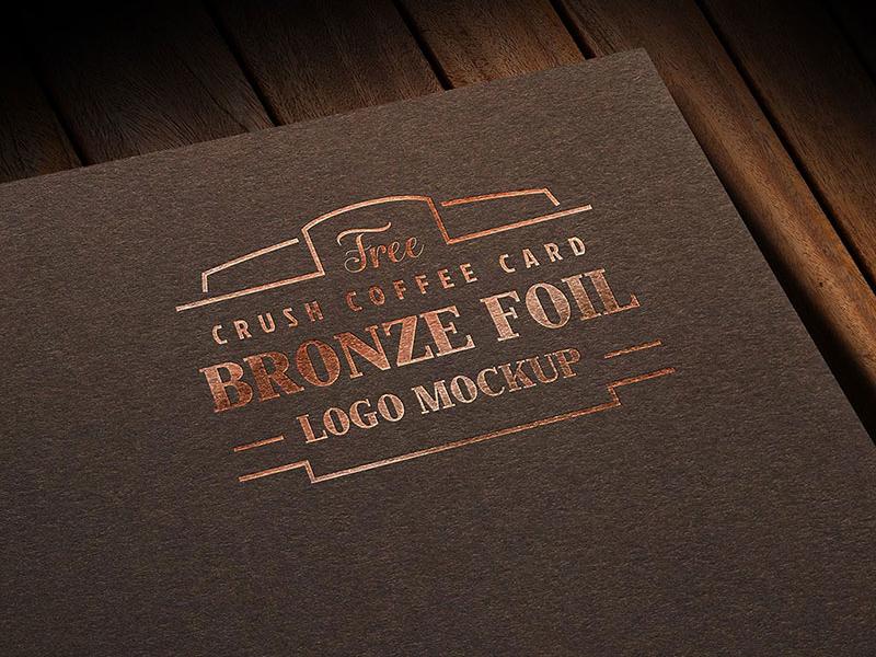 Free Coffee Card Foil Printed Logo Mockup PSD free mockup foil logo mockup logo mockup mockup mockup psd free logo mockup