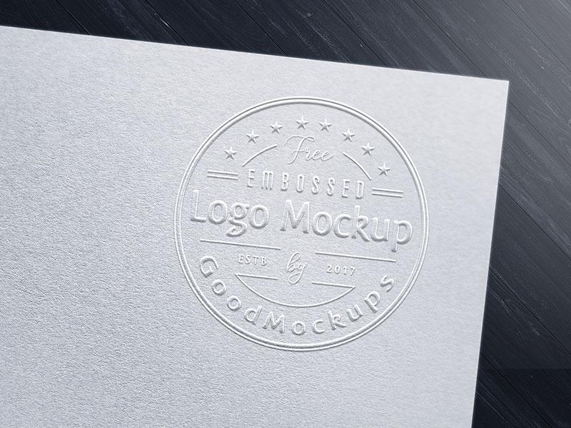 Remote Design Jobs >> Free Premium Embossed Logo Mockup PSD by Zee Que | Designbolts - Dribbble