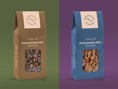 Tuck Lid Window Box Packaging Mockup PSD download freebie mockup psd mockup tuck lid mockup free mockup packaging mockup
