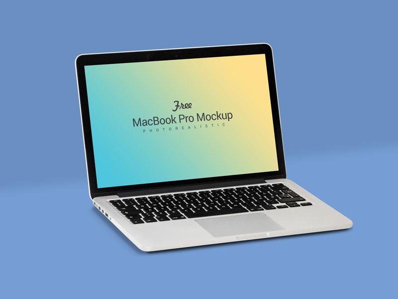 Free fully customizable apple macbook mockup psd
