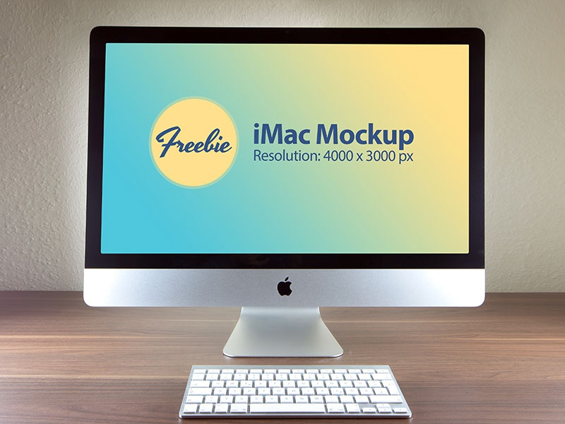 Free apple imac photo mockup psd file d