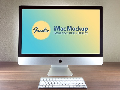 Free Apple iMac Photo Mockup PSD File download freebie free mockup mockup psd psd imac mockup imac