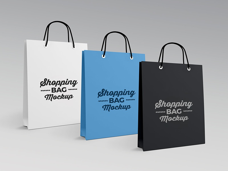 Free High Quality Paper Shopping Bag Mockup PSD