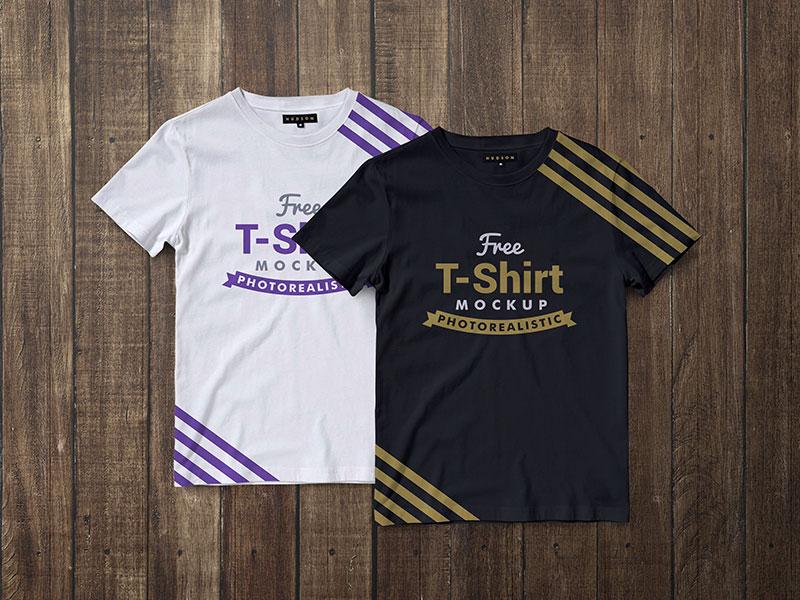 Free Premium Half Sleeves T-Shirt Mockup PSD
