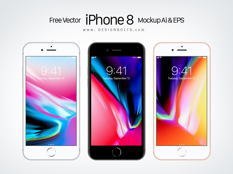 Free Vector Apple Iphone 8 Mockup Ai Eps By Zee Que