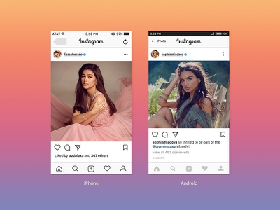 Free Instagram Ui Feed Screen Mockup PSD Template 2017 free mockup psd mockup mockup screen mockup instagram screen mockup instagram mockup instagram