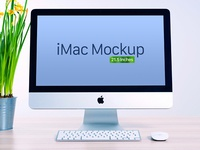 Free Apple iMac Mockup PSD (21 Inches)