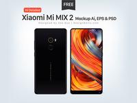 Free Xiaomi Mi Mix 2 Mockup Ai, EPS & PSD