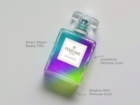 Free Scent / Perfume Bottle Mockup PSD