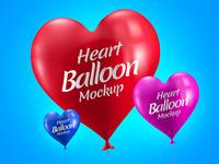 Free Heart Balloon Mockup PSD